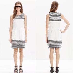Madewell Stripe Verse Dress White Black XS